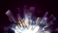流光风格3D城市流动背景