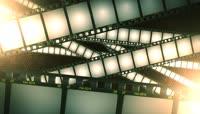 流光风格3D电影胶片唯美背景