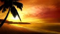 流光风格阳光海滩唯美背景