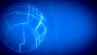 科技风酷炫蓝色线条地球背景