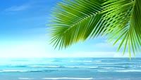 流光风格静谧海滩唯美背景