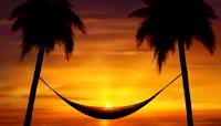 唯美阳光海滩的黄昏