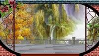 中国画风格唯美黄山美景