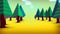 卡通风格树林可爱风格