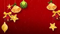 圣诞红主题流光风格唯美礼物背景