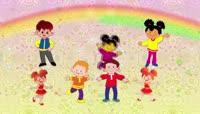 剪纸风格儿童节可爱背景
