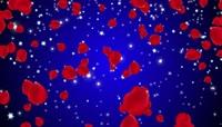 粒子风格玫瑰花瓣飘落唯美背景