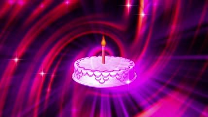 流光风格生日蜡烛喜庆背景