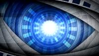 科技风蓝色深邃眼背景