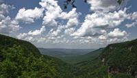 高山俯视壮丽景色风景优美蓝天白云高清延时实拍