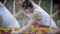划船比赛体育运动 端午节赛龙舟高清实拍动态视频素材