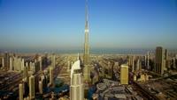 世界第一高楼城市建筑哈里发塔\-迪拜塔特写镜头高清实拍视频素材