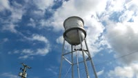 仰视蓝天白云移动高处水塔高清延时拍摄