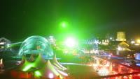 游乐场马戏团节目场地射灯四周照射高清延时实拍