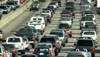 城市车流交通堵车镜头 高清实拍视频素材