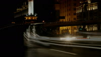 城市灯光车流江边建筑夜景高清实拍视频素材