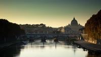 延时摄影镜头下的罗马十六浦日夜变幻场景 Rome Ponte