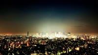 昼夜城市科技发展大数据传送信息 城市发展高清延时实拍