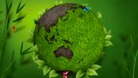 环保绿旋转地球唯美背景