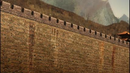三维仿真古代城墙长城古墙视频