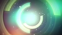 柔美粒子与旋转的光环特效高清视频素材1