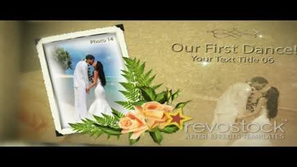 珍贵的婚礼相册模板素材
