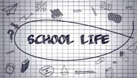 作业本上的学校生活 丰富多彩