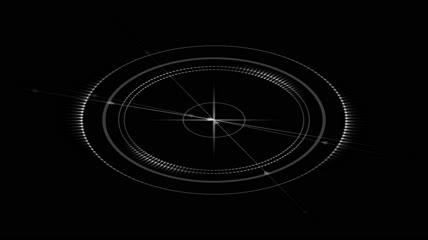 科技感的罗盘箭头素材 circular arrows
