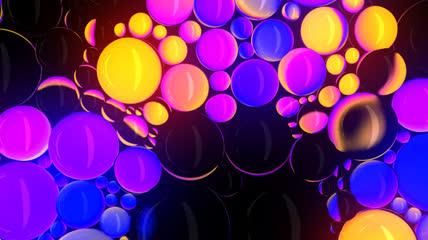 时尚绚丽的背景素材 03_loop_spheres