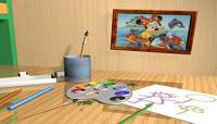 卡通风格3D儿童画布可爱背景