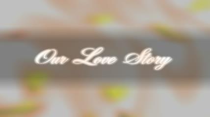 粒子风格梦幻爱情字幕唯美背景