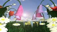 流光风格3D炫彩花园唯美背景