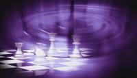流光风格3D炫彩国际象棋唯美背景