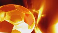 流光风格3D炫彩足球唯美背景