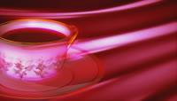 流光风格3D咖啡杯唯美背景