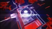 流光风格3D激光束DJ调音台酷炫背景