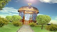 流光风格3D婚礼建筑唯美背景