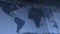 股票走势图样分析高清背景视频素材2