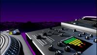 流光风格3D炫彩DJ打碟机酷炫背景