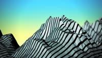 流光风格3D山丘唯美背景
