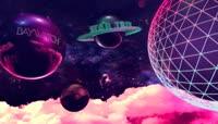 流光风格3D宇宙弹球酷炫背景