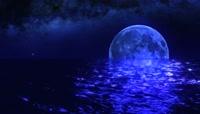 流光风格海上明月唯美背景