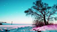 流光风格3D唯美雪景