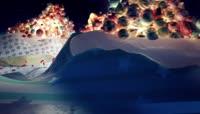 流光风格动感圣诞节立体3D创意礼物世界喜庆背景\(有音乐\)