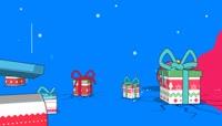 流光风格创意欢快节奏圣诞礼物喜庆背景\(有音乐\)