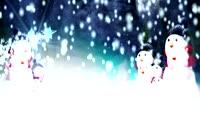 流光风格3D圣诞雪人雪景唯美背景