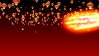 流光风格3D中国红灯笼喜庆背景