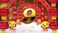 流光风格中国红主题新年喜庆倒计时