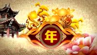 流光风格中国红主题年会晚会喜庆背景
