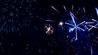 粒子风格3D烟花绽放唯美背景